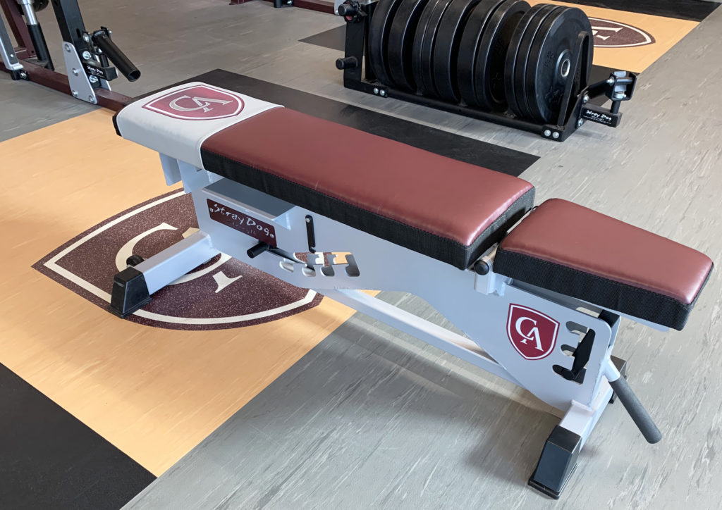 Titan Rack Bench with logo and stiched wear cover